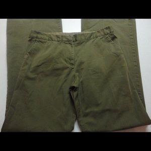 Tory Burch pants hunter green zip front size 12